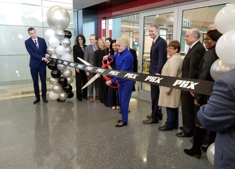 Aviation ribbon cutting