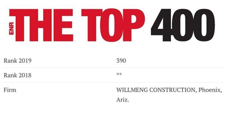 Willmeng Ranked In ENR's Top 400 Contractors - Willmeng
